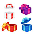 open gift box with bow and ribbon stock vector image