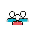 people follow social media icon line and fill vector image