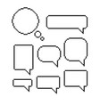 pixel speech bubble set mosaic dialog boxes vector image