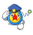 police yoyo character cartoon style vector image