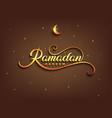 ramadan kareem greeting beautiful lettering for vector image