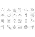 Restaurant food black icons set vector image