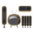 Retro TV and loudspeaker vector image vector image