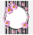 Round frame with daisies vector image vector image