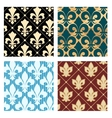 Royal lily patterns vector image