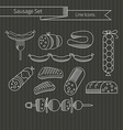 Sausage set vector image vector image