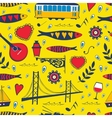 Seamless pattern with traditional portuguese vector image