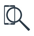 search information in phone magnifier and phone vector image