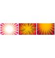 set 3 hyper speed warp sun rays or explosions vector image vector image