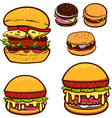 Set of burgers vector image vector image