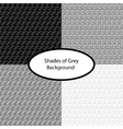Set of four grey patterns vector image