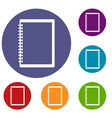 sketchbook icons set vector image vector image