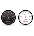 speedometer black and white speed gauge with vector image vector image
