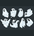 spooky halloween ghost fly phantom spirit with vector image vector image