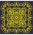 Stylized mandala of yellow color over dark vector image vector image
