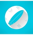 surfboards icon in modern flat design with vector image vector image