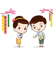 Thai traditional welcome sawasdee vector image vector image