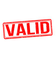 valid grunge rubber stamp vector image vector image