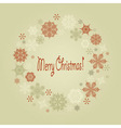 vintage Christmas wreath vector image vector image