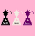 Vintage Salt Sugar and Pepper collection vector image