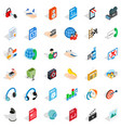 web designer icons set isometric style vector image vector image