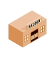 Western saloon isometric 3d icon vector image vector image