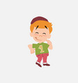 white boy in jeans with funny expression vector image vector image
