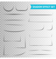 White Paper Cuts Transparent Shadow Set vector image vector image
