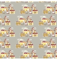 Winter landscape seamless pattern vector image