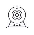 web camonline camera line icon sign vector image