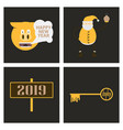 2019 happy new year greeting card celebration vector image