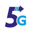 5th generation mobile network logotype isolated vector image vector image
