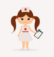 a girl in a doctor s suit vector image