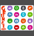 active recreation icons in grunge style vector image vector image