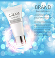 advertising cosmetics cream sparkling background vector image vector image