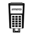 approved credit card payment icon simple style vector image vector image