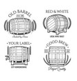barrel retro emblems vector image vector image