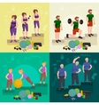 before and after weight loss peoples concept vector image vector image