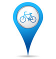 bike location icon vector image vector image