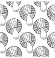 Black white seamless pattern with decorative vector image vector image