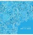 blue field floral texture frame corner pattern vector image vector image