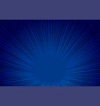 blue technology style perspective zoom lines vector image