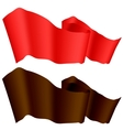Brown and Red Ribbons vector image
