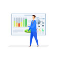 business analyst broker flat character vector image