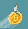 business concept bitcoin crypto currency vector image vector image