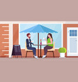 businesspeople couple discussing during meeting vector image