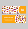 cake shop homemade cakes banner templates set vector image vector image