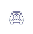 car and key line icon on white vector image vector image