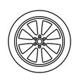 car wheel black color icon vector image vector image