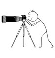 cartoon man or photographer with camera vector image